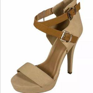 Delicious Una – S beige tan platform heel